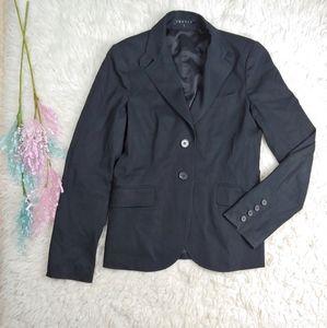 THEORY Black Split Back Blazer